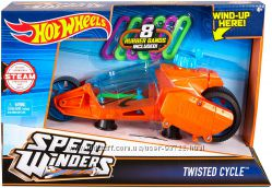 Большая машинка Speed Winders Twisted Cycle от Hot Wheels оригинал