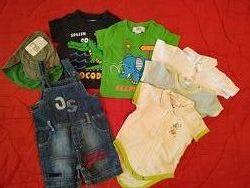 Большой пакет одежды и игрушек для малыша до 1.5 года