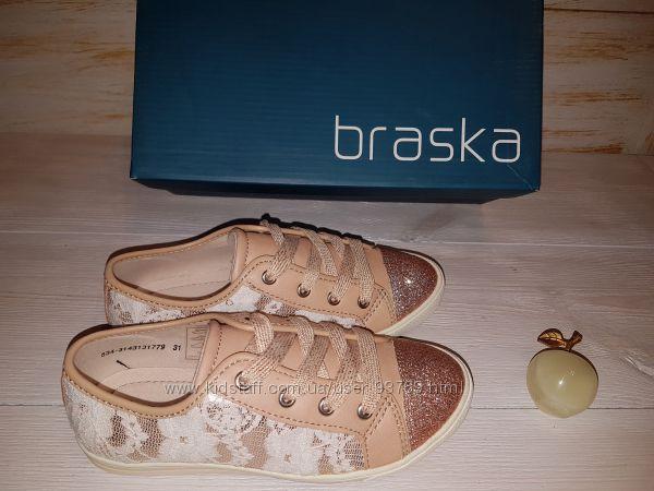 Оригинал новые туфли на шнуровке BRASKA 30, 31 р.