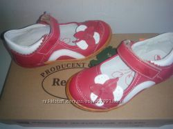 Распродажа--Новые кожаные туфельки REN BUT Польша--Размер 26--