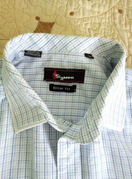 Стильная рубашка слим