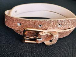 H&M Красивый золотистый розовый ремень