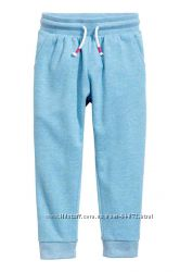 H&M Неутепленные голубые спортивные штаны на 6-7 и 8-10 лет в наличии