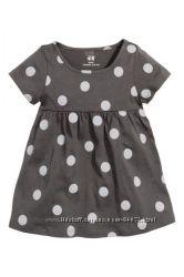 H&M Разнообразные хлопковые платьица на девочек 1, 5-2 года размер 92