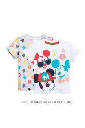 H&M Комплект из 2-х футболок серии Mickey Mouse размер 68