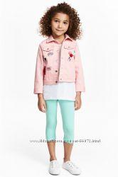 H&M Легинсы длиной три четверти для девочек 3-7 лет в наличии
