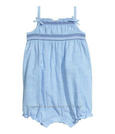 H&M Красивый натуральный песочник для девочки размер 92 в наличии