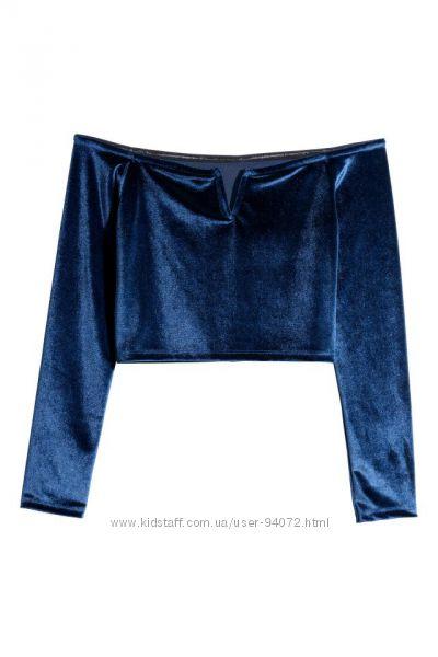 H&M Классный топ с открытыми плечами размеры S и М в наличии