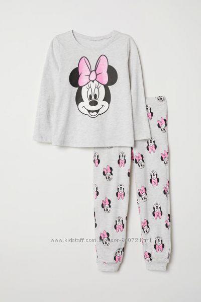 H&M Пижамы серии Mickey Mouse для 6-8 лет в наличии
