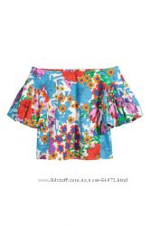 H&M Классная блуза с открытыми плечами размеры 36-38 в наличии