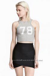 H&M Серый топ размер S в наличии