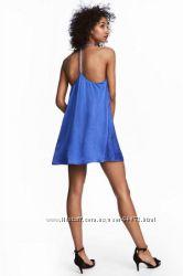 H&M Классное летнее платье василькового цвета размер 36 в наличии
