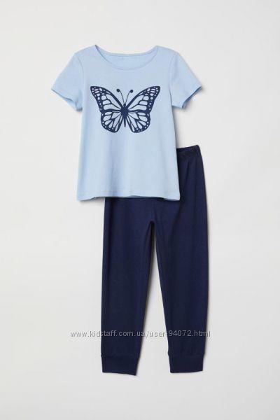 H&M Пижамка для девочки 2-4 лет в наличии