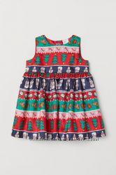 H&M Классное нарядное платьице для 9 месяце - 2 года и 3-4 года в наличии
