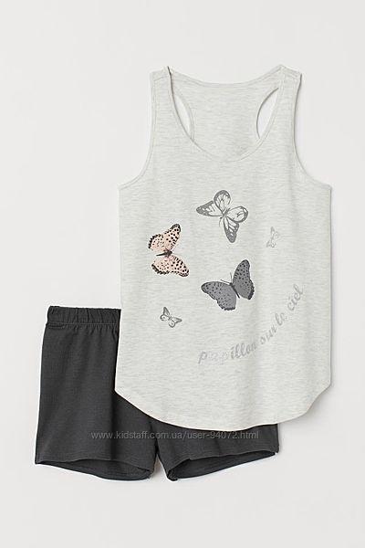 H&M Отличные пижамки с бабочками для 10-14 лет в наличии
