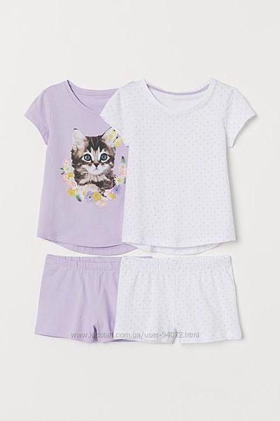 H&M Классные хлопковые пижамки для 2-8 лет в наличии