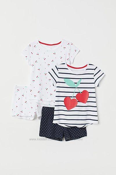 H&M Классные пижамки с вишенками для 1, 5-2 лет в наличии