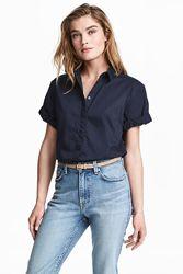 H&M Хлопковая женская рубашка размер 36 в наличии