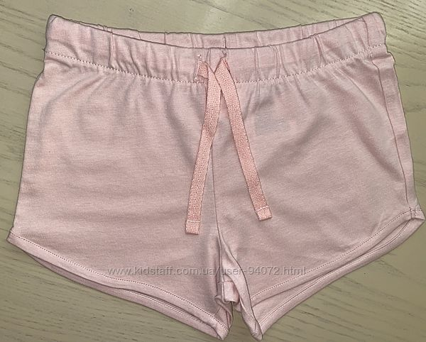 H&M Розовые трикотажные шортики для 1,5-2 и 3-4 лет в наличии