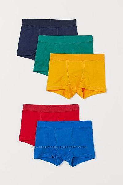 H&M Комплект из 5 пар трусиков-шортиков для 4-8 лет в наличии