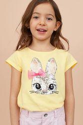 H&M Крутая футболочка с кроликом для 8-10 лет в наличии