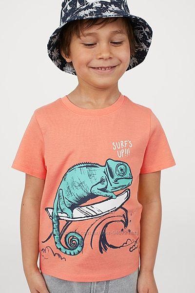 H&M Яркая футболочка с хамелеоном для 8-10 лет