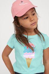 H&M Крутая футболочка с мороженным из пайеток для 4-10 лет