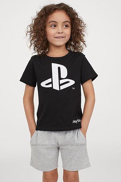 H&M Крутая футболочка для любителей PlayStation для 2-4 лет