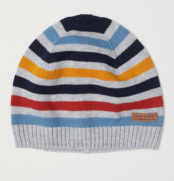 H&M Хлопковая шапочка тонкой вязки для 2-6 месяцев