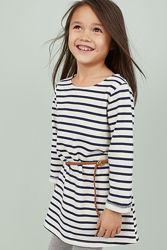 H&M Платье с поясочком для 4-10 лет