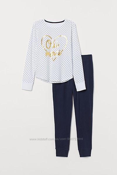H&M Отличные хлопковые пижамки для 14-16 лет