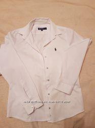 рубашка белая бу Polo Ralph Lauren р. 146-158, 8-11лет