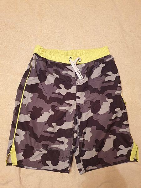Продам шорты р.158-164 серо-черно-пятнистые с желтым.