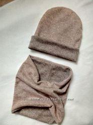 Комплекты и шапочки ручной работы. Выбор ткани