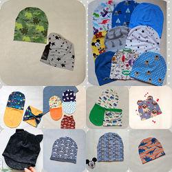 шапочки и наборы с динозаврами и животными, двухсторонние, лето и деми