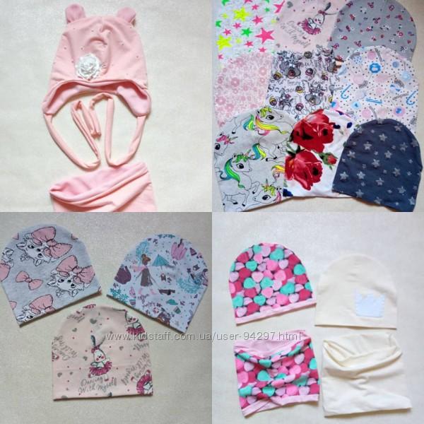 Авторские изделия деми, зима шапочки и комплекты Family Look