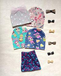 Шапочки модные с ЛОЛ и другие