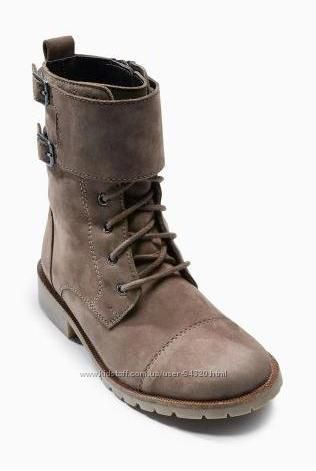 Крутые байкерские ботинки Next натуральная кожа