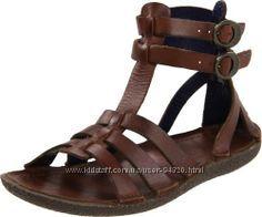 Шикарные кожаные гладиаторы kickers peplum gladiator sandal