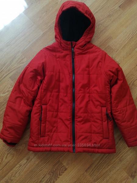 Зимняя теплая бу куртка для мальчика фирмы Lands&acuteend 128 рост