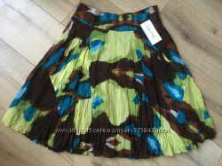 Летняя юбка Calvin Klein из шелка и хлопка. Размер S