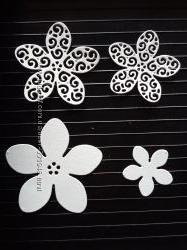 Висічка для скрапбукінгу Квіти