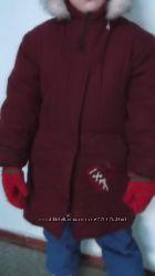 Парка , пальто для девочки  6-10 лет
