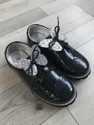 Туфли Школьные Lady Oxford Navy Evie р.33 с бабочками