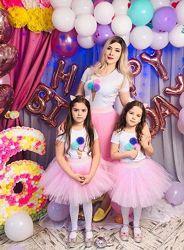 Юбка шопенка для мамы и дочки