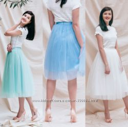 Качественная воздушная нарядная юбка из евросетки любой длины и пышности