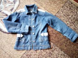 Пиджак джинс с кружевом