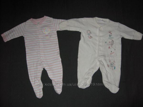 трикотажные человечки для новорожденного
