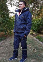 a64fab99 Мужской зимний спортивный костюм синтепон мех 1079 PHILIPP PLEIN в расц