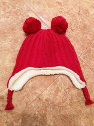 Очень теплая и мягкая шапочка Gymboree р. М 5-7 лет